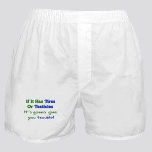 Tires Testicles Trouble Boxer Shorts