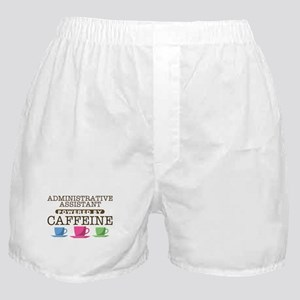 Administrative Assistant Powered by Caffeine Boxer