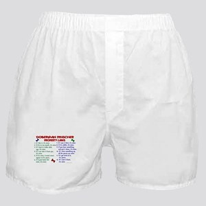 Doberman Pinscher Property Laws 2 Boxer Shorts