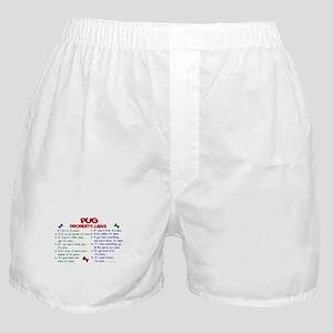 Pug Property Laws 2 Boxer Shorts