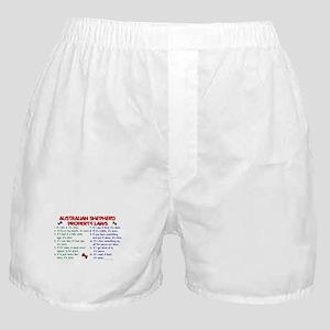 Australian Shepherd Property Laws 2 Boxer Shorts
