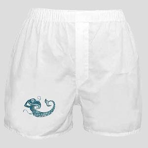 Worn Mermaid Graphic Boxer Shorts