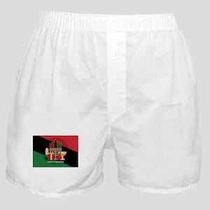 diagonal stripe Happy Kwanzaa Boxer Shorts