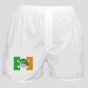 Irish Jolly Roger - Pirate Flag Boxer Shorts