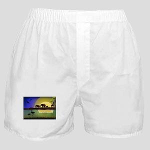 Animals African Landscape Boxer Shorts