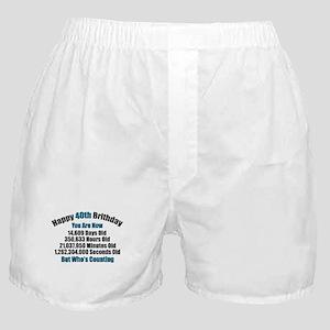 40th Birthday T-shirt Boxer Shorts