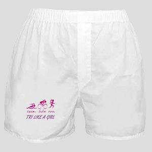 TRI LIKE A GIRL Boxer Shorts
