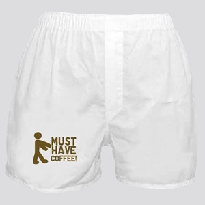 Must Have COFFEE! Zombie Boxer Shorts