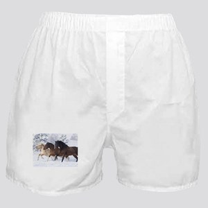 Horses Running In The Snow Boxer Shorts