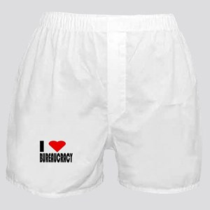 I Love Bureaucracy Boxer Shorts