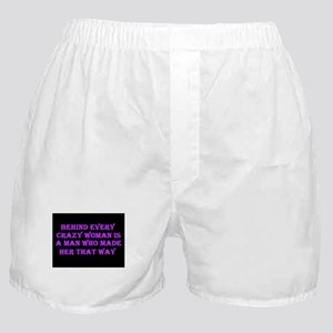 Crazy Woman Boxer Shorts