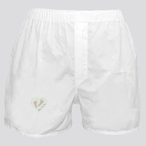 Baby Girl's Name in Heart Boxer Shorts