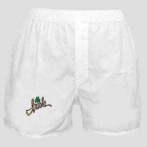 irish clover shamrock Boxer Shorts