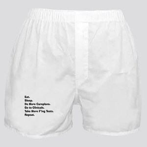 eat sleep student nurse LIGHTS Boxer Shorts