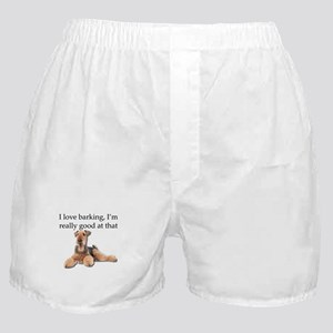 Airedale Terrier is Really good at ba Boxer Shorts