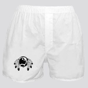 Metis Spirit Buffalo Native Art Boxer Shorts