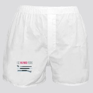 I See Numb People Boxer Shorts