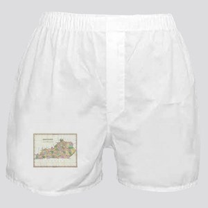 Vintage Map of Kentucky (1827) Boxer Shorts
