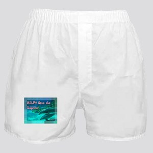 Save the Dolphins! Boxer Shorts