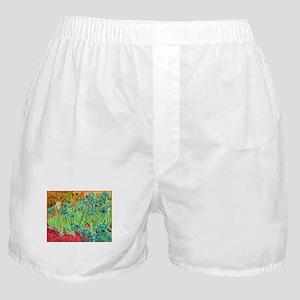van gogh teal irises Boxer Shorts
