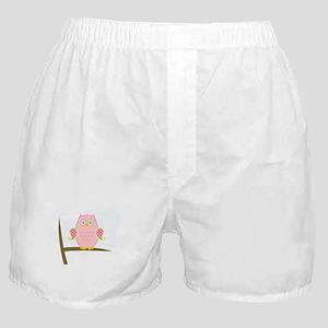 Owl (pink) Boxer Shorts