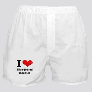 I love blue-footed boobies  Boxer Shorts