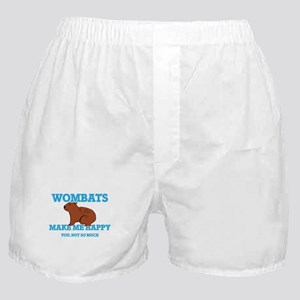 Wombats Make Me Happy Boxer Shorts