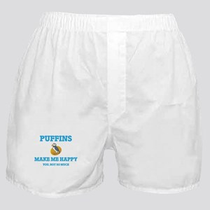 Puffins Make Me Happy Boxer Shorts