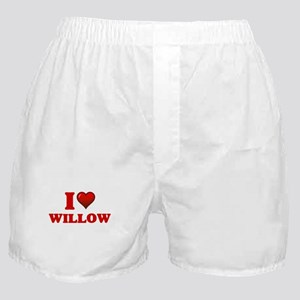 I Love Willow Boxer Shorts