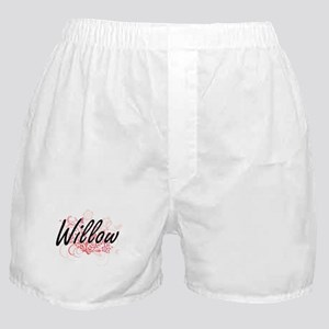 Willow Artistic Name Design with Flow Boxer Shorts