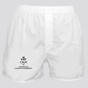 Keep Calm by focusing on Cooperative Boxer Shorts