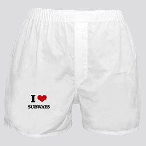 I love Subways Boxer Shorts