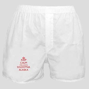 Keep calm you live in Soldotna Alaska Boxer Shorts
