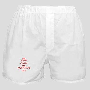 Keep Calm and Agitation ON Boxer Shorts