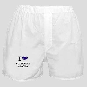 I love Soldotna Alaska Boxer Shorts