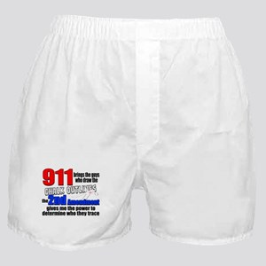 911 Chalk Outlines Boxer Shorts