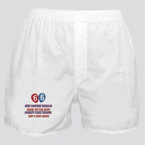 66 year old designs Boxer Shorts