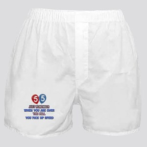 55 year old designs Boxer Shorts