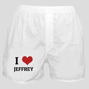 I Love Jeffrey Boxer Shorts