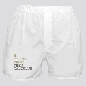 Coffee Then Calculus Boxer Shorts