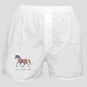 Rainbow horse gift Boxer Shorts