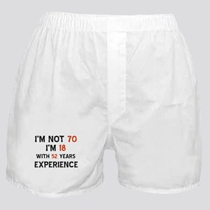 70 year old designs Boxer Shorts