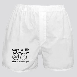 Save a Life - Adopt a Shelter Pet Boxer Shorts