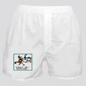 Spook at X Dressage Horse Boxer Shorts