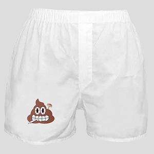 Stoned Shroomin Poop Emoji Boxer Shorts