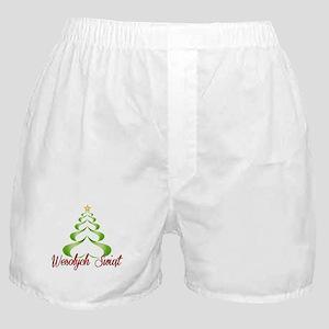 Wesolych Swiat Ribbon Tree Boxer Shorts