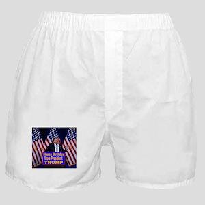 Happy Birthday from President Trump Boxer Shorts