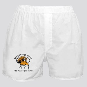 Naughty Year of The Tiger Women's Boxer Shorts