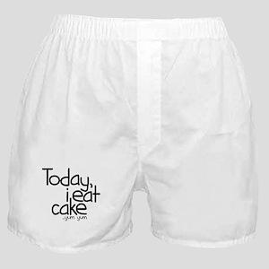 Today I Eat Cake Boxer Shorts