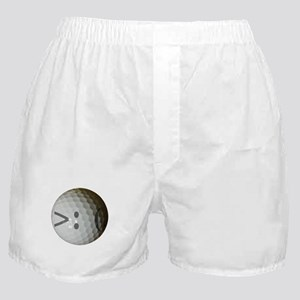 Angry Text golf ball. Boxer Shorts